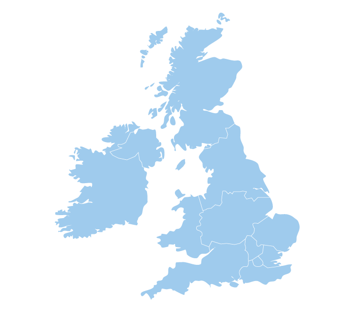 Map Of Uk Showing Regions.Regions And Branches